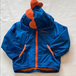 Columbia Dino Hooded Fleece Lined Jacket 2T